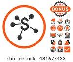 money emission icon with bonus. ... | Shutterstock .eps vector #481677433