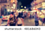 vintage tone blur image of... | Shutterstock . vector #481686043
