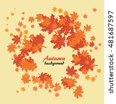 abstract autumn background with ... | Shutterstock .eps vector #481687597