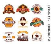 coffee badges | Shutterstock .eps vector #481704667