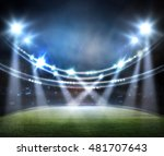 stadium in lights 3d. | Shutterstock . vector #481707643