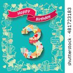 card invitation with number and ... | Shutterstock .eps vector #481723183
