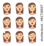 set of emoji character. cartoon ... | Shutterstock .eps vector #481728037