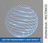 Vector Blue Neon Sphere Circle...