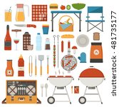 barbeque and picnic elements... | Shutterstock .eps vector #481735177