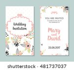 wedding set. romantic vector... | Shutterstock .eps vector #481737037