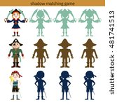 shadow watching game  pirate.... | Shutterstock .eps vector #481741513