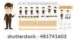 flat businessman kit. you can... | Shutterstock .eps vector #481741603
