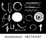 collection of graphic elements. ... | Shutterstock .eps vector #481743187