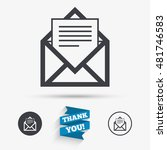 mail icon. envelope symbol.... | Shutterstock .eps vector #481746583