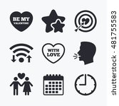 valentine day love icons.... | Shutterstock .eps vector #481755583