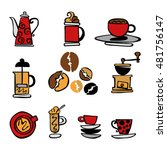 coffee. set. coffee and coffee... | Shutterstock .eps vector #481756147