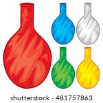 deflated  empty  balloons | Shutterstock .eps vector #481757863
