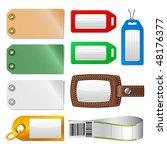 Vector Set Of Luggage Tags And...