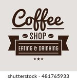 vintage logo. coffee shop... | Shutterstock .eps vector #481765933