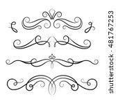 vintage calligraphic vignettes  ... | Shutterstock .eps vector #481767253