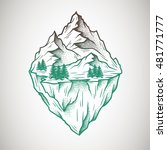 abstract mountains. hand drawn | Shutterstock .eps vector #481771777