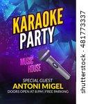 karaoke party invitation poster ... | Shutterstock .eps vector #481773337