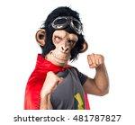 superhero monkey man giving a... | Shutterstock . vector #481787827