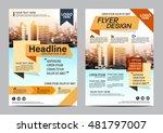 modern flat brochure layout... | Shutterstock .eps vector #481797007