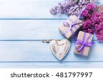 Two Festive Gift Boxes With...