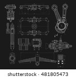 a set of technical drawings of... | Shutterstock .eps vector #481805473