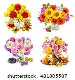 Autumn Flowers Bunch In Vase...