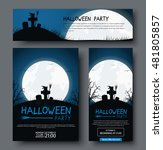 set of posters  flyers and... | Shutterstock .eps vector #481805857