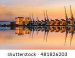 royal victoria dock in london... | Shutterstock . vector #481826203