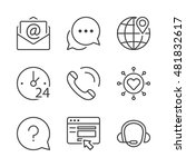 call center  contact icons set  ... | Shutterstock .eps vector #481832617