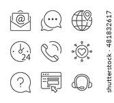 call center  contact icons set  ... | Shutterstock .eps vector #481832617