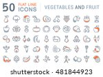 set vector line icons in flat... | Shutterstock .eps vector #481844923