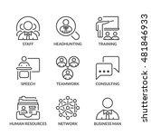 business teamwork icons set ... | Shutterstock .eps vector #481846933