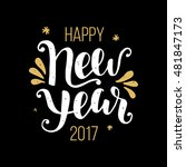happy new year 2017 poster ... | Shutterstock .eps vector #481847173