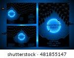 set of invitations for... | Shutterstock .eps vector #481855147