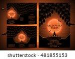 set of invitations for... | Shutterstock .eps vector #481855153