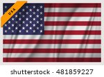 national flag of the united... | Shutterstock .eps vector #481859227