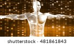 dna sequence with genetics data ... | Shutterstock . vector #481861843