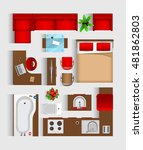 set top view for interior icon... | Shutterstock .eps vector #481862803