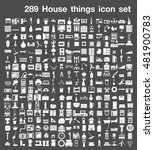 289 house things icon set  | Shutterstock .eps vector #481900783