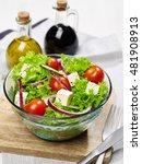 fresh bowl of salad   Shutterstock . vector #481908913
