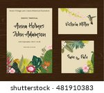set wedding printing. the... | Shutterstock .eps vector #481910383