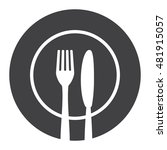 fork knife and plate icon.... | Shutterstock .eps vector #481915057