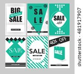 set of mobile banners for... | Shutterstock .eps vector #481917907