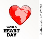 vector illustration world heart ... | Shutterstock .eps vector #481923703