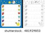 preschool worksheet for... | Shutterstock .eps vector #481929853