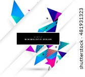 geometric background. template... | Shutterstock .eps vector #481931323