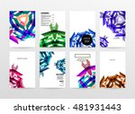 geometric background. template... | Shutterstock .eps vector #481931443