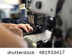 production of clothes  sewing... | Shutterstock . vector #481933417