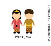 indonesian boys and girls in... | Shutterstock .eps vector #481948147